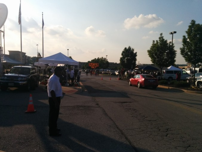Police Staging Area - Entrance